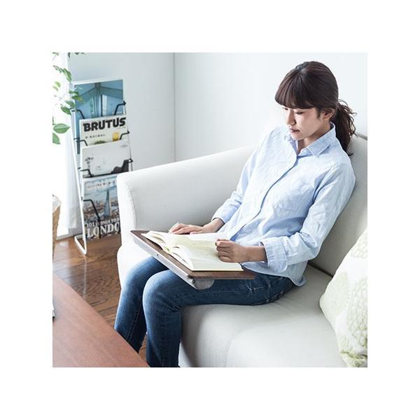 膝上テーブル ノートパソコンPCスタンド ラップトップテーブル 車 木目調|ergs|11