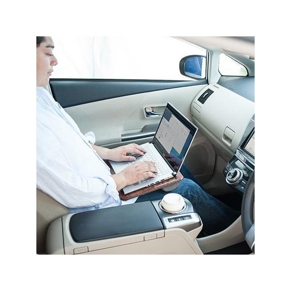 膝上テーブル ノートパソコンPCスタンド ラップトップテーブル 車 木目調|ergs|12