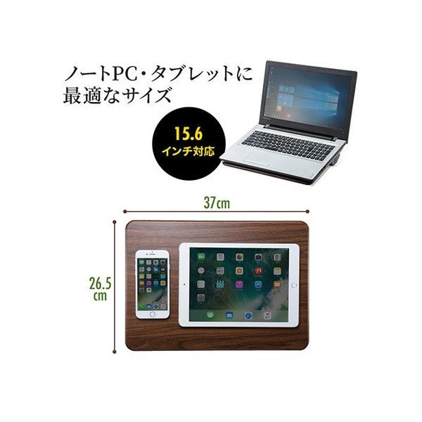 膝上テーブル ノートパソコンPCスタンド ラップトップテーブル 車 木目調|ergs|06