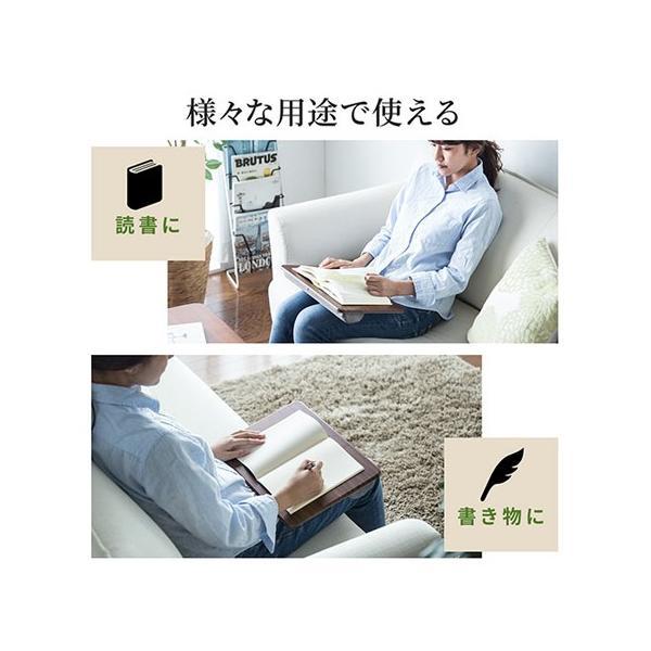 膝上テーブル ノートパソコンPCスタンド ラップトップテーブル 車 木目調|ergs|07