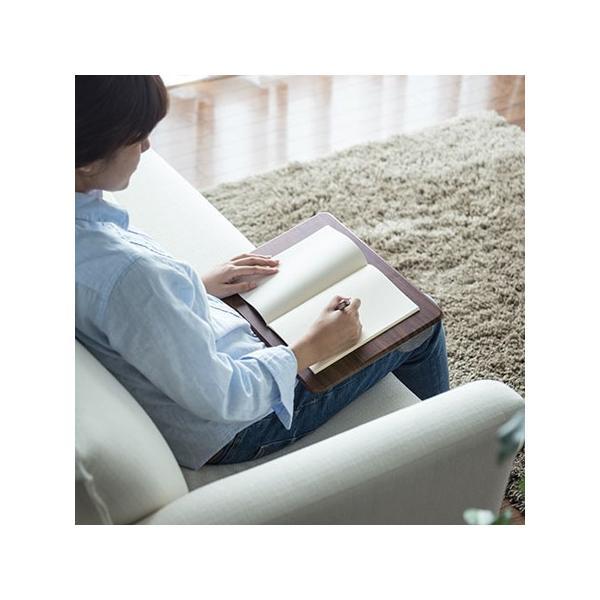 膝上テーブル ノートパソコンPCスタンド ラップトップテーブル 車 木目調|ergs|10