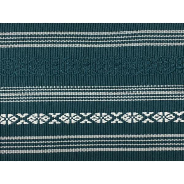 角帯 メンズ No.73 青緑 高麗納戸色 献上柄 本場特製角帯 男性用 男物 在庫処分品|eriko|02