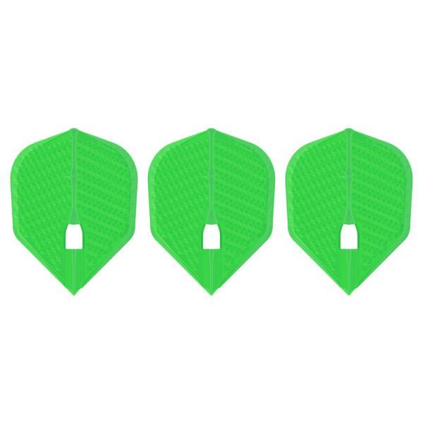 ダーツ フライト L-Flight 【エルフライト】 ディンプル シェイプ ライムグリーン (dimple L3d Shape Lime Green) | シャンパンリング対応