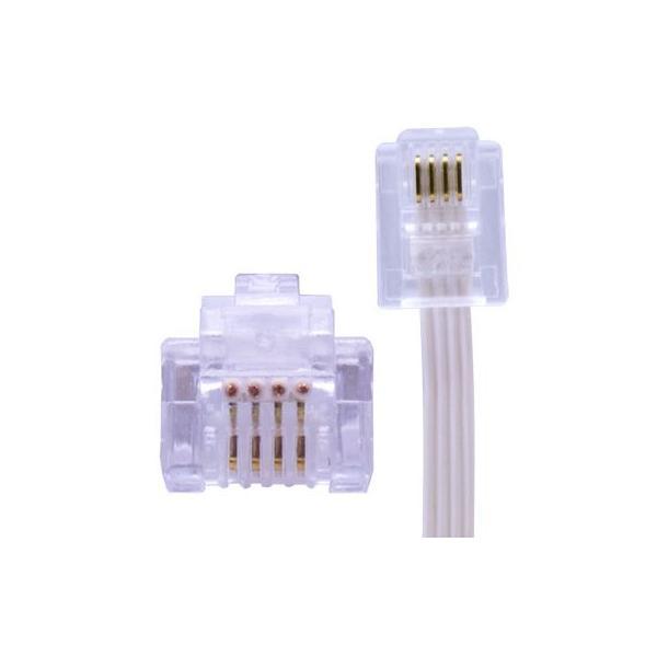 電話線 モジュラーケーブル 10m 薄型 フラットタイプ 電話コード 電話ケーブル メール便送料無料|escoshop|02