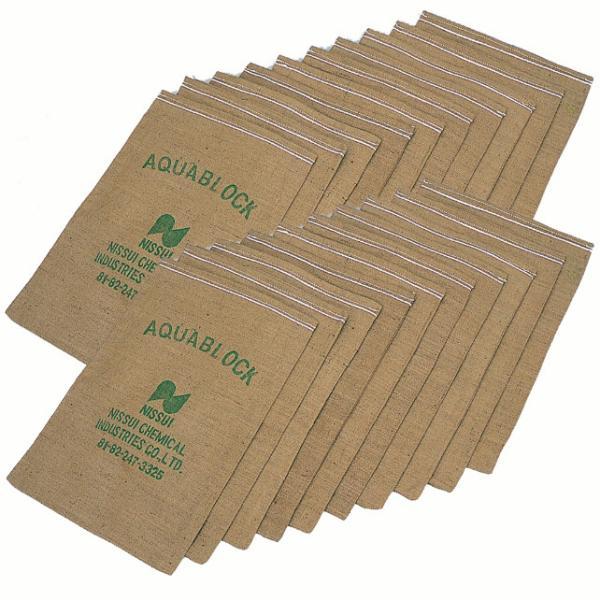 土のいらない土のう袋 アクアブロック ND-20 20枚入(再利用可能 真水用)(土嚢袋 災害用 台風 ゲリラ豪雨 水害 洪水対策)(送料無料) escoshop 05