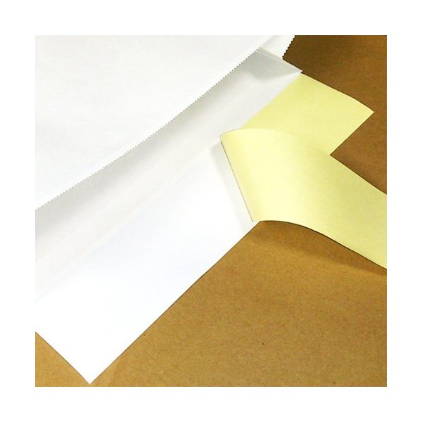 宅配袋 梱包袋 小 Sサイズ 500枚 テープ付き 白色 無地(500袋 晒片艶 日本製 梱包資材 紙袋 宅急便 320*260*80mm)(送料無料) escoshop 03