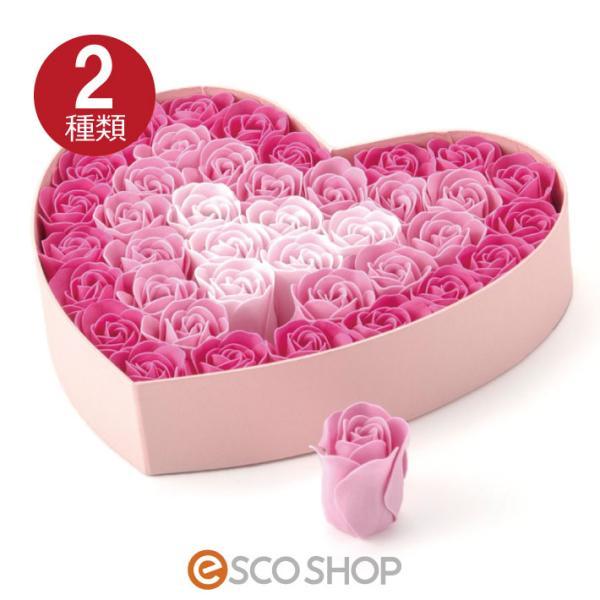Q-FLA NEWハートボックス 全2種 (バラ 薔薇 ローズ バスフレグランス ソープフラワー 入浴剤 母の日 ギフト プレゼント ホワイトデー 結婚式)(送料無料) escoshop