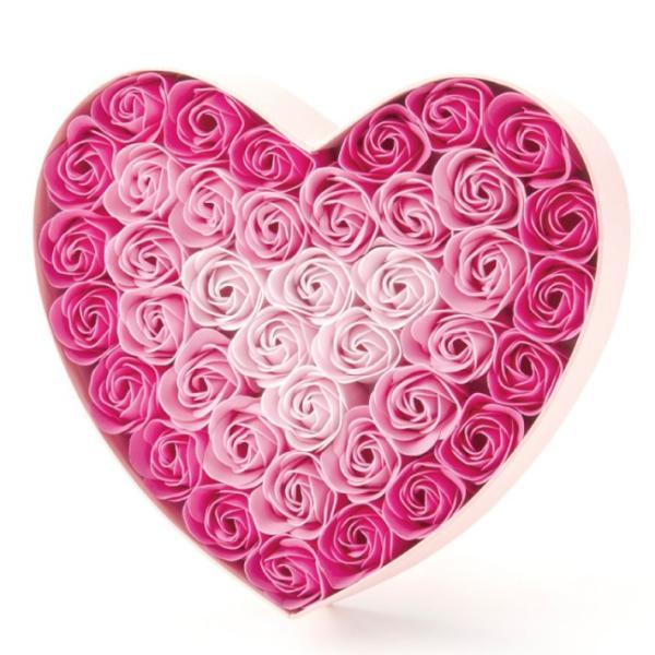Q-FLA NEWハートボックス 全2種 (バラ 薔薇 ローズ バスフレグランス ソープフラワー 入浴剤 母の日 ギフト プレゼント ホワイトデー 結婚式)(送料無料) escoshop 05
