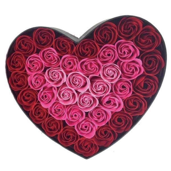 Q-FLA NEWハートボックス 全2種 (バラ 薔薇 ローズ バスフレグランス ソープフラワー 入浴剤 母の日 ギフト プレゼント ホワイトデー 結婚式)(送料無料) escoshop 06