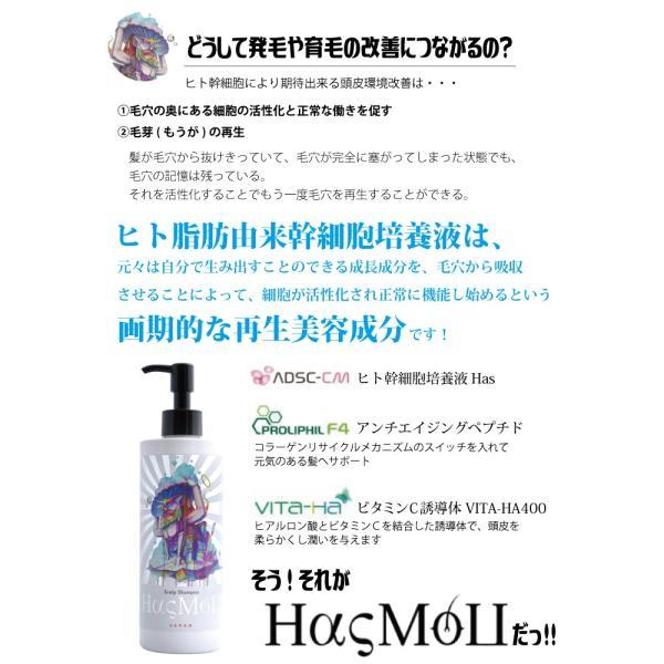 HasMoU ハスモウ スカルプ シャンプー 300ml(送料無料)(ヒト幹細胞培養液 スキャルプ スカルプケア 発毛 育毛 増毛 抜け毛 薄毛 対策 予防)|escoshop|06