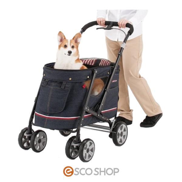 ボンビアルコン ペットバギー DECA PROGRE デニム ペットカート コンパクト収納 おしゃれ 4輪 折りたたみ お散歩 小型犬 超小型犬 同梱不可 送料無料