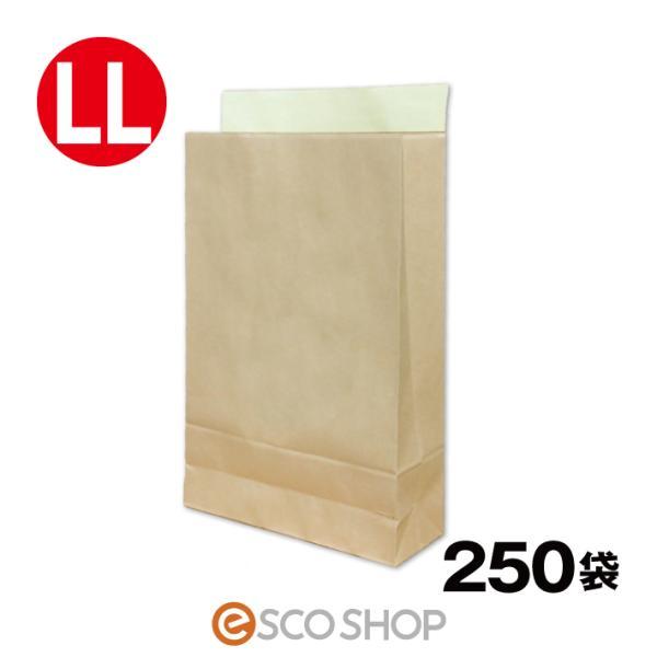 宅配袋 クラフト 特大 LLサイズ 250枚 テープ付き 茶色 無地(A3 250袋 梱包袋 日本製 梱包資材 紙袋 宅急便)(送料無料)(同梱不可)|escoshop