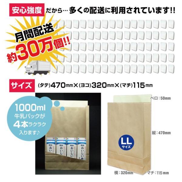 宅配袋 クラフト 特大 LLサイズ 250枚 テープ付き 茶色 無地(A3 250袋 梱包袋 日本製 梱包資材 紙袋 宅急便)(送料無料)(同梱不可)|escoshop|06