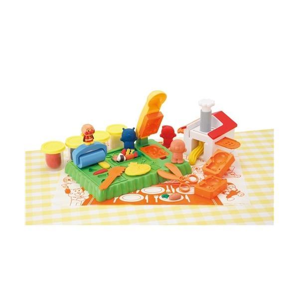 アンパンマンねんどでわくわくパンこうじょうセットおもちゃこども子供知育勉強3歳