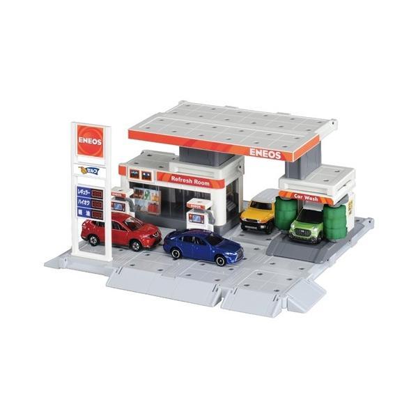 トミカタウンビルドシティガソリンスタンド(ENEOS)おもちゃこども子供男の子ミニカー車くるま3歳