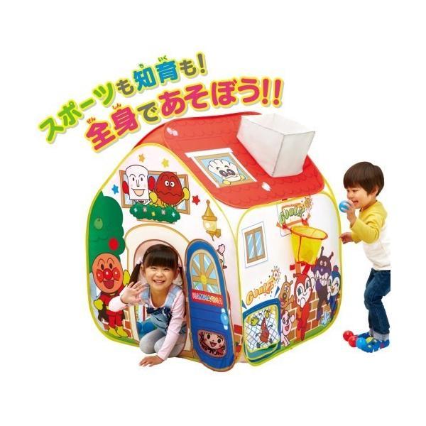 アンパンマン全身で 知育がいっぱい ボールテントパンこうじょうおもちゃこども子供知育勉強遊具室内2歳1ヶ月