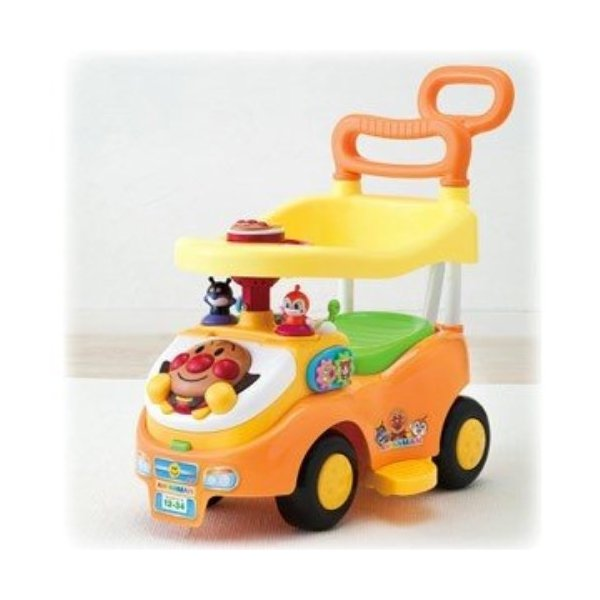 アンパンマンよくばりビジーカー押し棒+ガード付きおもちゃこども子供知育勉強0歳10ヶ月