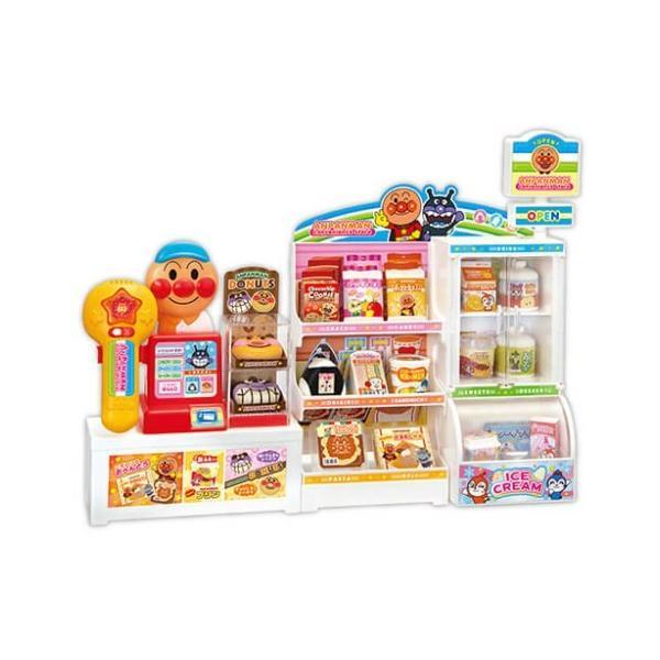いらっしゃいませ アンパンマンコンビニおもちゃこども子供女の子ままごとごっこ3歳