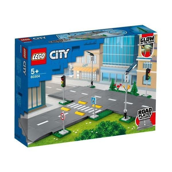 LEGOレゴシティつながる ロードプレート交差点60304おもちゃこども子供レゴブロック3歳