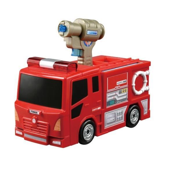 トミカワールドぴゅぴゅっと消火 おしごと変形消防署おもちゃこども子供男の子ミニカー車くるま3歳