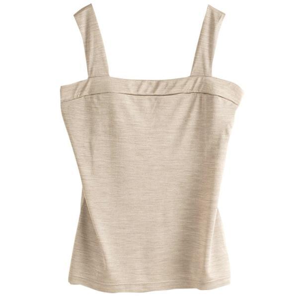 シルク100% ジャージー チラ見え防止 ベアトップ風 タンクトップ 日本製 レディース デコルテフィットで胸元カバー|eses|10