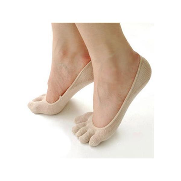 冷えとり 靴下 シルク5本指フットカバー 1足売り eses 02
