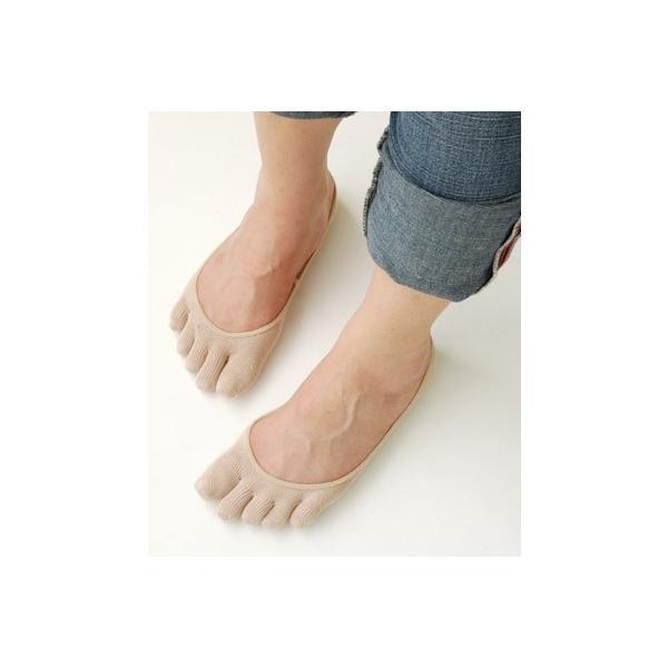 冷えとり 靴下 シルク5本指フットカバー 1足売り eses 04