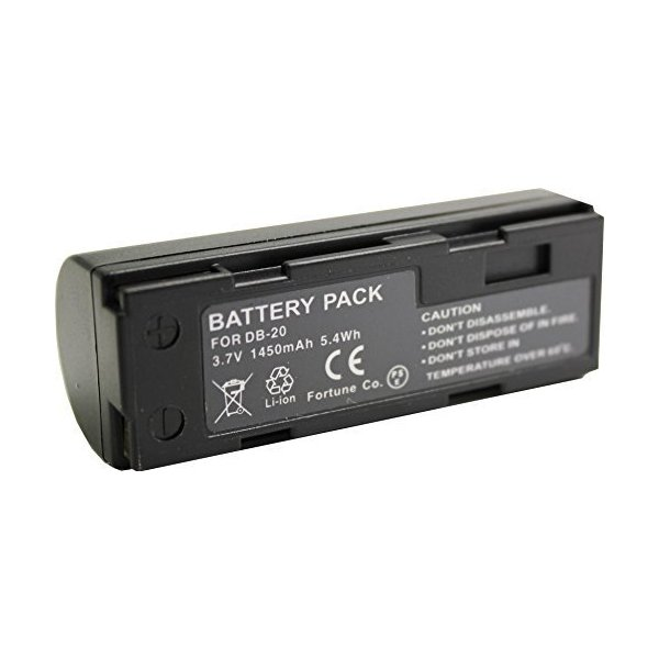 NinoLite DB-20 /NP-80 互換 バッテリー リコー RR1 RDC-7 / Fuji 1700Z 2700 6900Z 等 共通対応