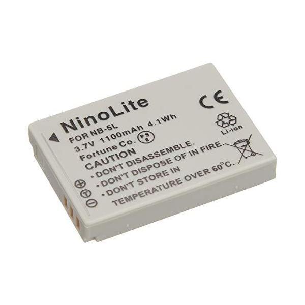 NinoLite NB-5L 互換 バッテリー キャノン PowerShot S100 S110 SX200IS IXY 95IS 800IS 等対応