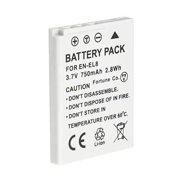 NinoLite EN-EL8 互換 バッテリー ニコン CoolPix S52c S52 S51c S51 S50c S50 S8 S7C S7 S6 等対応