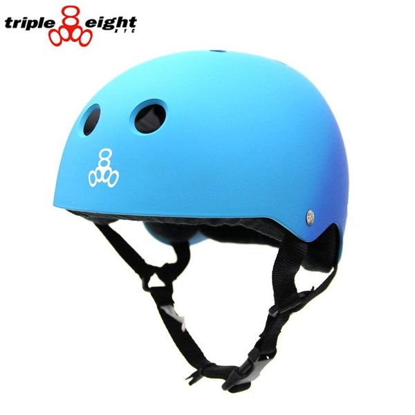 TRIPLE EIGHT トリプル エイト ヘルメット SWEATSAVER LINER HELMET BLUE FADE RUBBER スケボー スケートボード インライン用