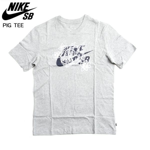 NIKE SB ナイキ エスビー SB PIG TEE Tシャツ 063/Dグレー スケボー ウェアー SKATEBOARD