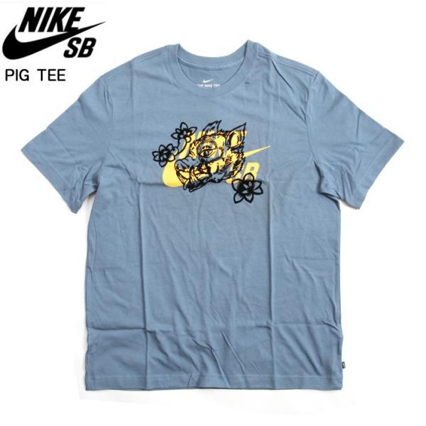 NIKE SB ナイキ エスビー SB PIG TEE Tシャツ 418/サンダー スケボー ウェアー SKATEBOARD
