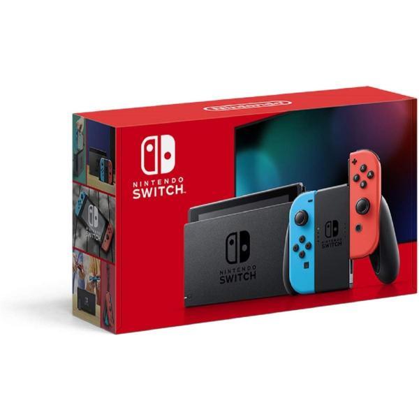 おうち時間ニンテンドースイッチ本体NintendoSwitch(L)ネオンブルー/(R)ネオンレッドバッテリー強化版