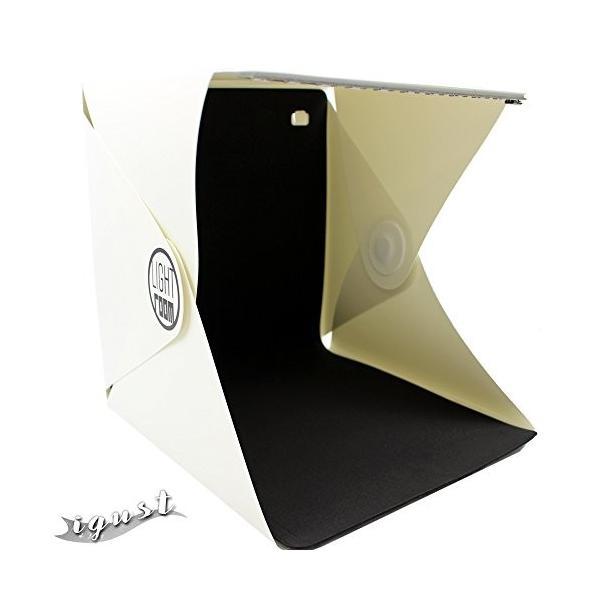 igust(アイガスト) 簡単撮影スタジオ 写真がキレイにとれる 小物撮影に便利 折り畳み式 携帯できる オークシ