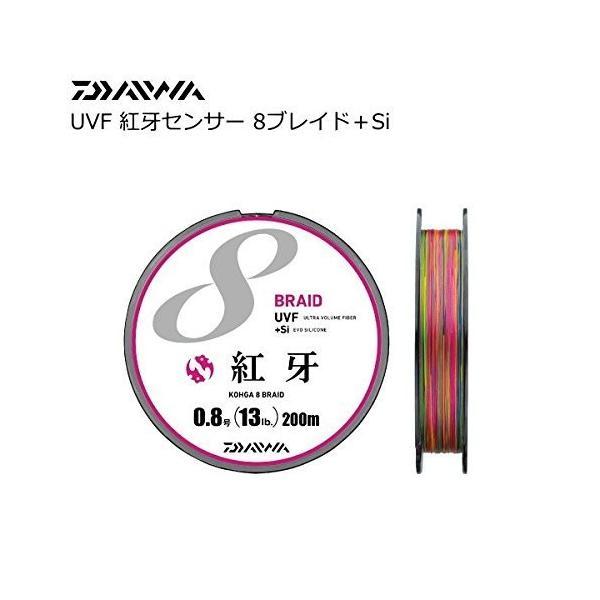 ダイワ(Daiwa) PEライン UVF 紅牙センサー 8ブレイド+Si 200m 1号 17lb マルチカラー