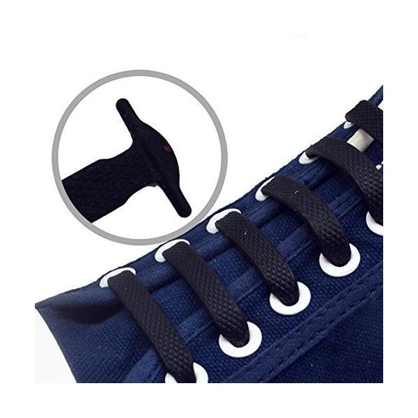 メンズ レディースシリコン靴紐 結ばない ゴム靴紐 高い伸縮性 簡単着脱 全13色 (白)