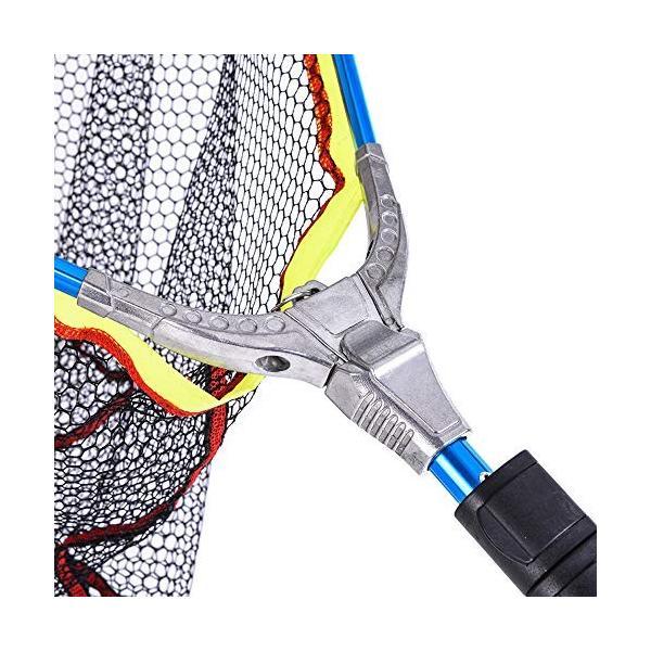 Motomo 玉網 アルミ合金 ABS 折り畳み式 全長200 軽量 携帯便利