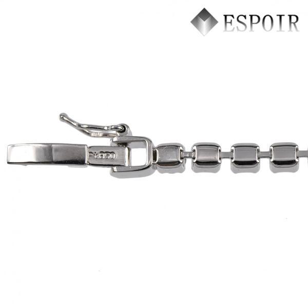 プラチナ850 PT850 テニスブレスレット 18.5cm 天然ダイヤモンド 3カラット