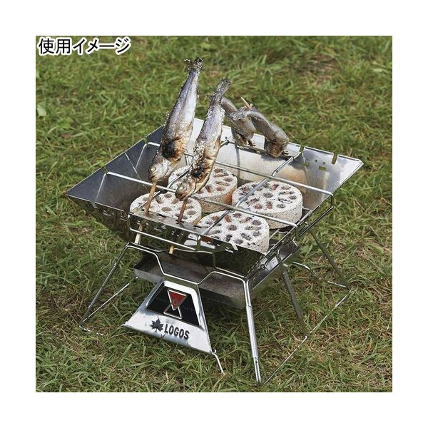 ロゴス(LOGOS) バーベキュー コンロ The ピラミッドTAKIBI ロゴスザピラミッド 焚き火 L 81064162 たき火 焚火台 キャンプ アウトドア|esports|06