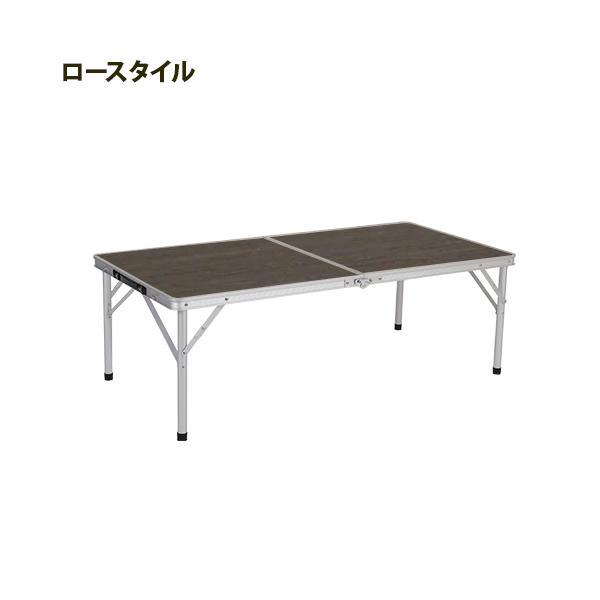 クイックキャンプ (QUICKCAMP) アウトドア 折りたたみテーブル 120×60cm モダンブラウン AL2FT-120 二つ折り 軽量 折り畳みテーブル ローテーブル|esports|02