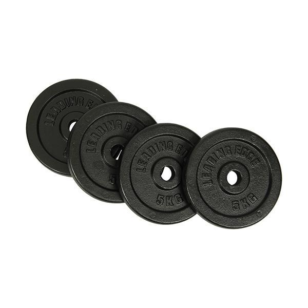 リーディングエッジ(LEADING EDGE) アイアン 5kg プレート 4枚セット ブラック 28mm径 LE-IDBP5-4 ダンベルプレート 単品別売り 2個セット ESDS 無臭素材