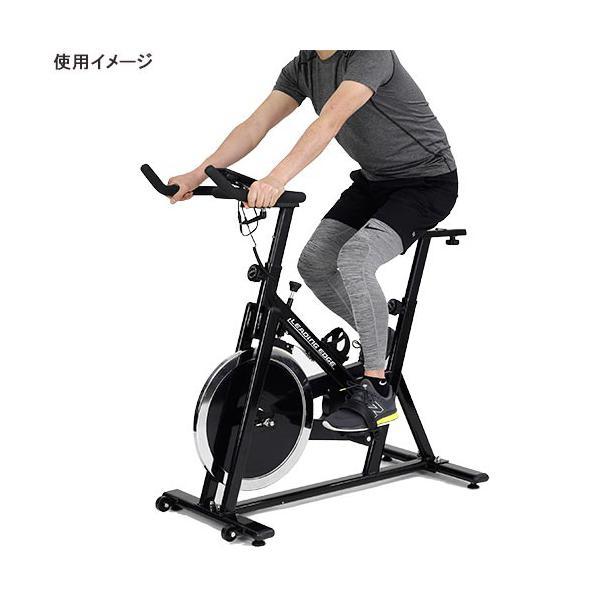 リーディングエッジ(LEADINGEDGE) スピンバイクAe ブラック + EVAジョイントマット グレー BK-SPN13BK フィットネス エアロバイク ダイエット トレーニング|esports|03
