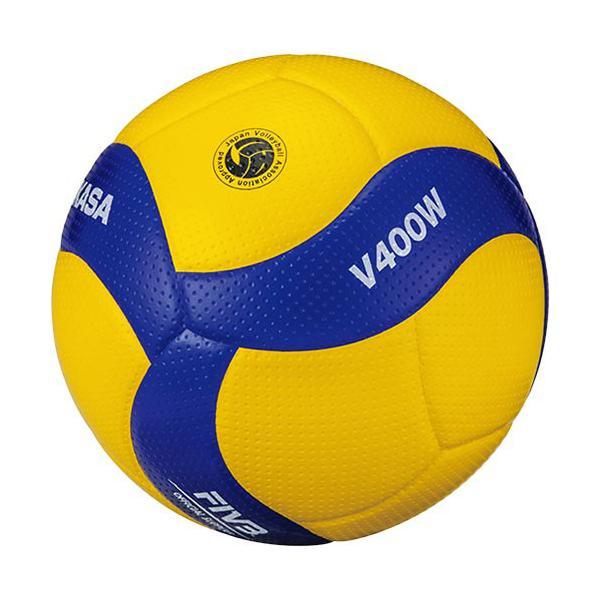 ミカサ(MIKASA) バレーボール 4号 検定球 黄/青 V400W 公式 大会 バレー 試合球 公式球 4号球