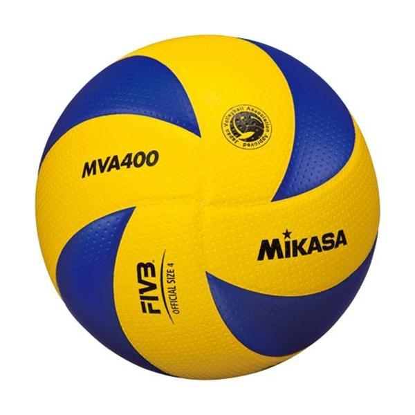 MIKASA(ミカサ) バレーボール 4号 MVA400 黄/青 バレーボール 4号球 esports