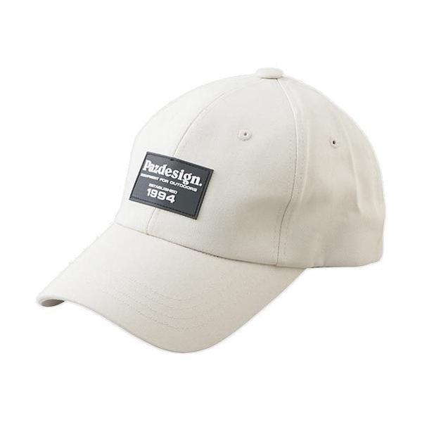 パズデザイン(Pazdesign) 釣り ワッペンキャップ オフホワイト フリーサイズ PHC-062 フィッシング 釣り具 帽子 日よけ 紫外線対策 アクセサリー