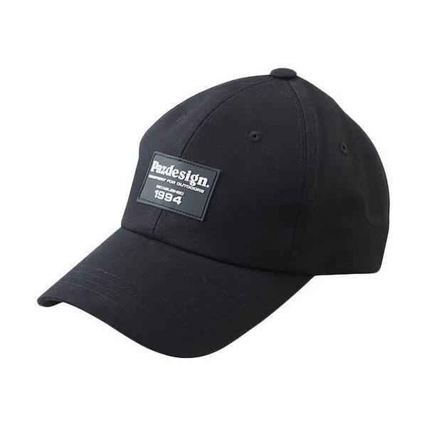 パズデザイン(Pazdesign) 釣り ワッペンキャップ ブラック フリーサイズ PHC-062 フィッシング 釣り具 帽子 日よけ 紫外線対策 アクセサリー