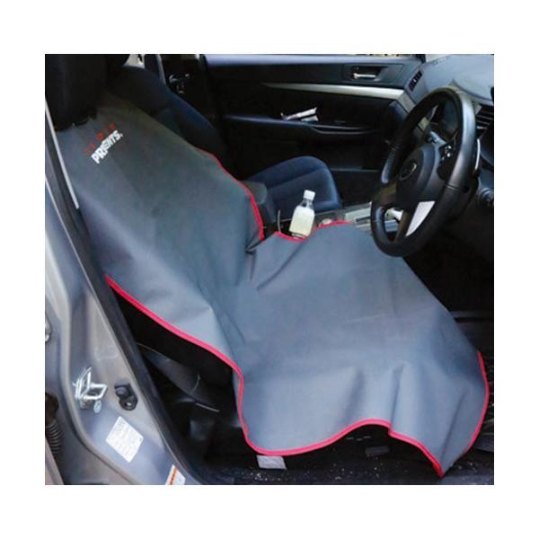 リトルプレゼンツ(LITTLE PRESENTS) 釣り 防水 シートカバー グレイ×レッド AC100 フィッシング 車 アウトドア グランドシート ドライバーシート