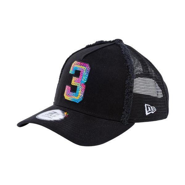 ニューエラ(NEW ERA) メンズ レディース ゴルフ メッシュキャップ 9FORTY A-Frame トラッカー シークイン 3 ブラック 12855103 帽子 黒 スナップバック