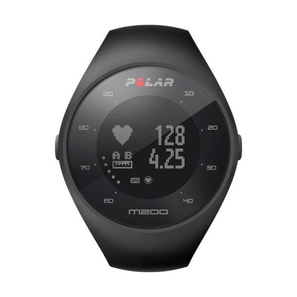 e2ffdd4add ポラール(Polar) GPS ランニングウォッチ M200 ブラック M/L 90061200 手首型心拍 ...